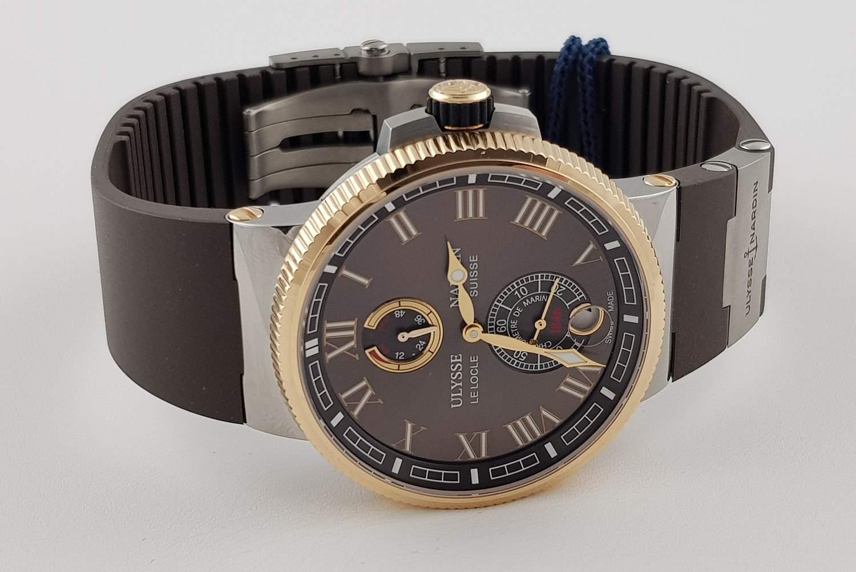 Часы Ulysse Nardin Marine Manufacture 18k Rose Gold Steel 1185-126-3T45