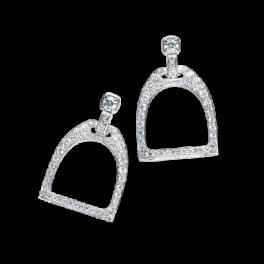 Серьги Ralph Lauren Pavé White Gold Stirrup Earrings RLR 47 80 100
