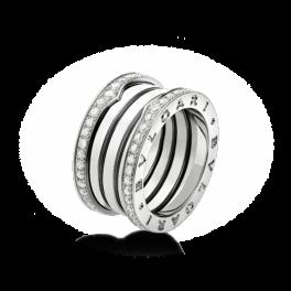 Кольцо с бриллиантом Bvlgari B. Zero1 Ring