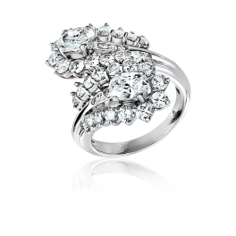 Кольцо с бриллиантом RalfDiamonds  с бриллиантами 0,58ct K/VS2-0,62ct N/VS1