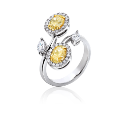 Кольцо с бриллиантом No name  с бриллиантами 0,8ct LY/VS1-0,9ct LY/VS2