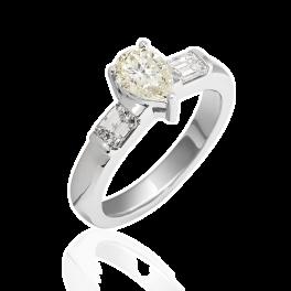 Кольцо с бриллиантом No name  1,00ct M/SI2
