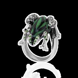 Кольцо с бриллиантом Adolfo Courrier Il Principe Frog Ring