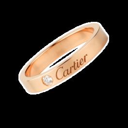 Кольцо с бриллиантом Cartier Diamond Wedding Band B4210700