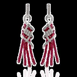 Серьги RalfDiamonds  с рубинами 38,5ct и бриллиантами