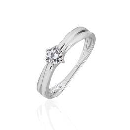 Кольцо с бриллиантом No name  0,24ct G/VS2