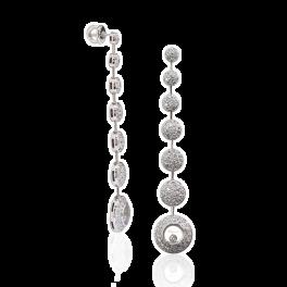 Серьги No name  с бриллиантами в стиле Chopard