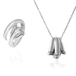 Комплект Piaget  с бриллиантами