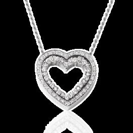 Подвеска Damiani Belle Epoque heart diamond pendant
