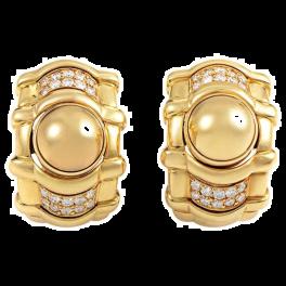 Серьги Piaget , 0.80 Carat Diamond Yellow Gold Huggie Earrings
