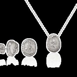 Комплект RalfDiamonds  с халцедоном и бриллиантами