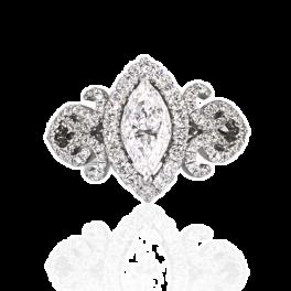 Кольцо с бриллиантом No name  0,91ct D/VVS1