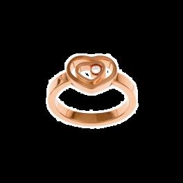 Кольцо с бриллиантом Chopard  Happy Hearts Rose Gold Diamond Ring 827691-5005