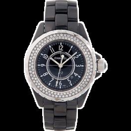 Часы CHANEL Black Dial, Diamond Bezel, Ceramic on bracelet / Quartz H0949