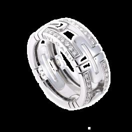 Кольцо с бриллиантом Bvlgari  Parentesi Diamond Pave White Gold Band LU6824435451