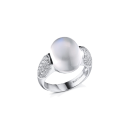 Кольцо с бриллиантом RalfDiamonds  с лунным камнем