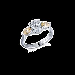 Кольцо с бриллиантом No name  c бр.1,00сt G/SI1