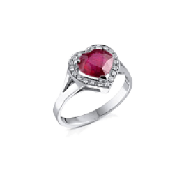 Кольцо с бриллиантом RalfDiamonds  с рубином 3,01сt и бриллиантами