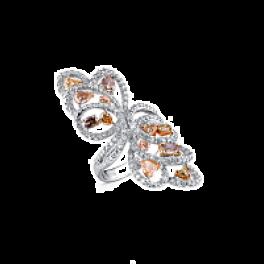 Кольцо с бриллиантом RalfDiamonds  с фантазийными бриллиантами