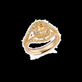 Кольцо с бриллиантом RalfDiamonds  с желтыми бриллиантами