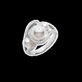Кольцо с бриллиантом Mikimoto  PRA538DW