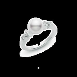 Кольцо с бриллиантом Mikimoto  PRA631DW