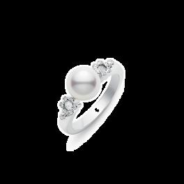 Кольцо с бриллиантом Mikimoto  PRA638DW