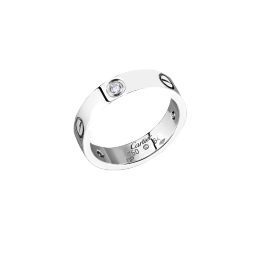 Кольцо с бриллиантом Cartier  Love, 3 diamonds B4032500