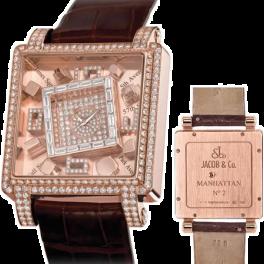 Часы Jacob & Co Metropoli Manhattan Rose Gold