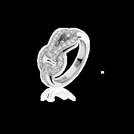 Кольцо с бриллиантом Cartier  Agrafe Diamond Ring