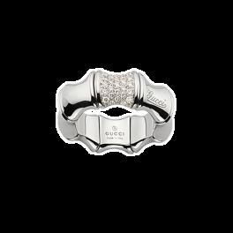 Кольцо с бриллиантом Gucci Bamboo ring