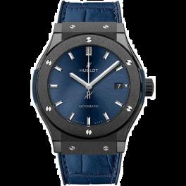 Часы Hublot  Classic Fusion Automatic Ceramic Blue Dial 38mm 565.CM.7170.LR