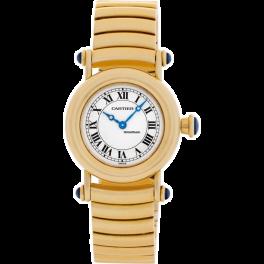 Часы Cartier Diabolo Lady 18k Yellow Gold Quartz Papers Bj-1995 Bj-1995