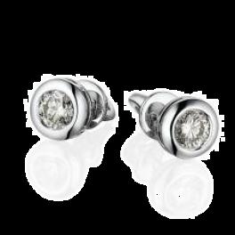 Серьги Mercury  с бриллиантами 0,50-0,50ct G/VS1