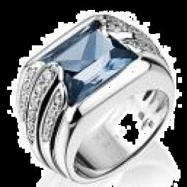 Кольцо с бриллиантом Audemars Piguet  с топазом и бриллиантами