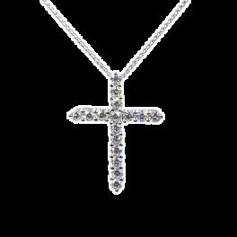 Крест Luca Carati подвеска с бриллиантами 1,92ct