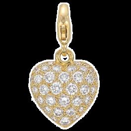 Колье Cartier Diamond Pave Heart Pendant