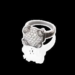 Кольцо с бриллиантом Gucci  Horsebit Diamond Cocktail Ring