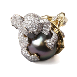 Кольцо с бриллиантом No name  Koala