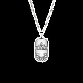 Колье Bvlgari Подвеска Parentesi White Gold & Diamond Pendant
