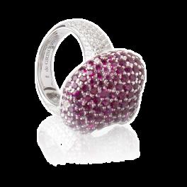 Кольцо с бриллиантом de Grisogono  с рубинами и бриллиантами
