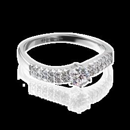 Кольцо с бриллиантом RalfDiamonds  0,33ct D/VS1