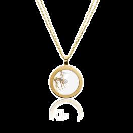 Колье Chopard подвеска Bambi Happy Diamonds 79/6897-20