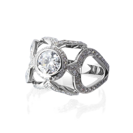 Кольцо с бриллиантом No name  0,88ct G/VS1