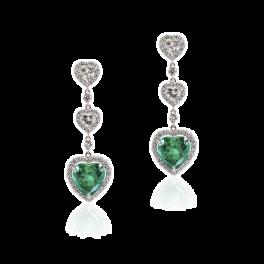 Серьги Bellini Gioielli  с изумрудами и бриллиантами
