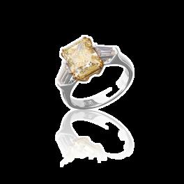 Кольцо с бриллиантом No name  4,02ct FLY/VVS2
