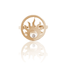 Кольцо с бриллиантом Chopard Anello Happy Sun Ring 826980-5108