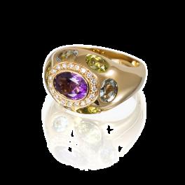 Кольцо RalfDiamonds  с аметистом и бриллиантами