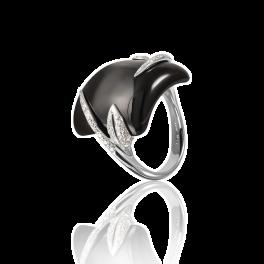 Кольцо Luca Carati  с ониксом и бриллиантами