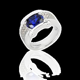 Кольцо RalfDiamonds  с сапфиром 3,0ct